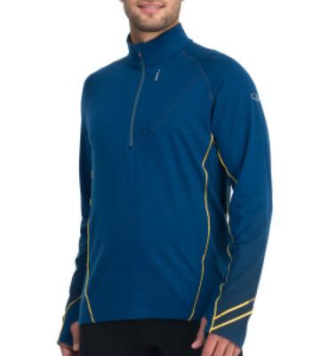Icebreaker Drive Zip-Neck Shirt - Long-Sleeve - Men's
