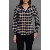 JACHS Blue Oxford Check Shirt for Women