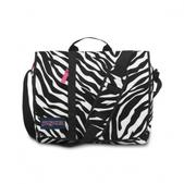 Jansport Market Street Courier Bag (BLK/WHT/F.PINK ZEBRA)