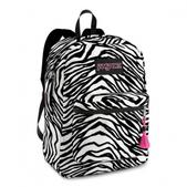 Jansport Super FX Series Daypack (BLK/WHT ZEBRA TWIST)