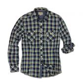 Jeremiah Merritt Indigo Plaid Long Sleeve