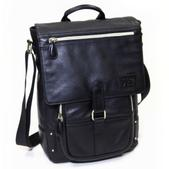 Jill-e Emma Black Leather Laptop and Tablet Bag