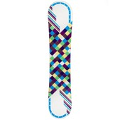 JoyRide Checkers White Blue Rocker Girls Snowboard