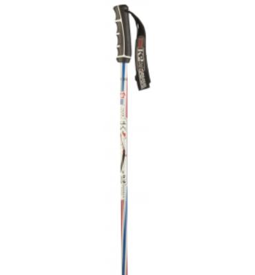 K2 Barber Pole Ski Poles Red White Blue
