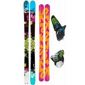 K2 Domain Skis w/ Marker Squire Bindings Black/Green/Blue