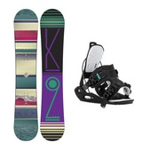 K2 First Lite Haylo Womens Snowboard and Binding Package