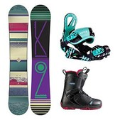 K2 First Lite Pearl Womens Complete Snowboard Package