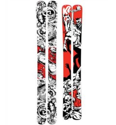 K2 Hell Bent Skis w/ Marker Griffon Schizo Bindings