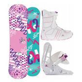 K2 Lil Kandi Girl's Snowboard 100 w/ Lil Kat Boot/Binding