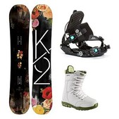 K2 Spot Lite Sapphire Womens Complete Snowboard Package