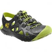 Keen Youth Rio Sandal (BLACK / BRIGHT CHARTREUSE, 2)