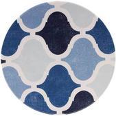Knack3  Indigo Moroccan Dimpled Tile Salad Plate
