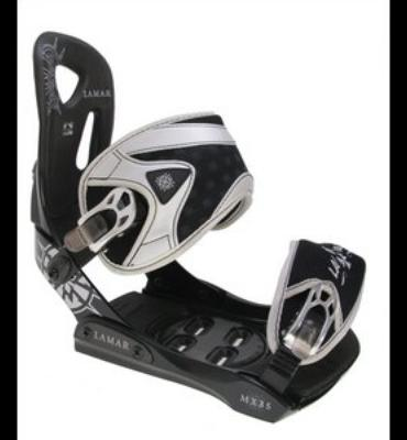 Lamar MX35 Silver Snowboard Bindings Black