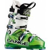 Lange RX 130 Ski Boots Translucent Lime/White