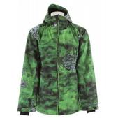 Lib Tech Strait Snowboard Jacket Green All Over Print