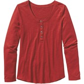 Long-Sleeved Necessity Henley Top Womens New