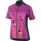Louis Garneau Crystal Short Sleeve Cycling Jersey - Women's Size M Color Peony/Black