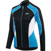 Louis Garneau Delano 2 Long Sleeve Cycling Jersey - Women's Size S Color Black/White/Cyan