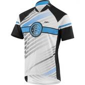 Louis Garneau Limited Short Sleeve Cycling Jersey - Men's Size M Color White/Blue