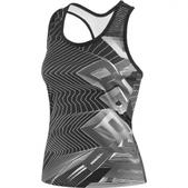 Louis Garneau Silhouette Sleeveless Cycling Jersey - Women's Size M Color GeometricBlack