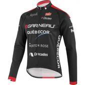 Louis Garneau Team Quebecor Long Sleeve Cycling Jersey - Men's Size M Color GarneauQuebecor