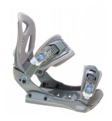 LTD LT20 Snowboard Bindings Grey