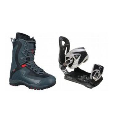 LTD Lyric Snowboard Boots & Lamar MX35 Silver Bindings