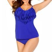 Magicsuit Jaclyn Fringe Solid Bathing Suit Top