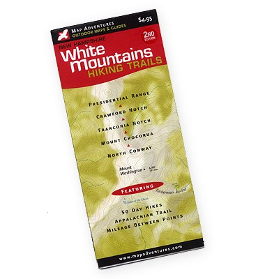 MAP ADVENTURES White Mountains Hiking Trails Map