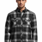 Mens Lodge Long Sleeve Shirt Plaid