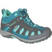Merrell Chameleon Mid Lace Waterproof Shoe - Little Girls'