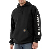 Midweight Hooded Logo-Sleeve Sweatshirt
