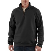 Midweight Quarter-Zip Mock Neck Sweatshirt