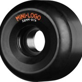 Mini Logo A - Cut Black Skateboard Wheels - 58mm 97a (Set of 4)
