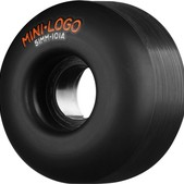Mini Logo C-Cut Black Skateboard Wheels - 51mm 101a (Set of 4)