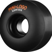 Mini Logo C-Cut Hybrid Black Skateboard Wheels - 53mm 90a (Set of 4)