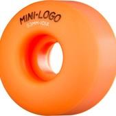 Mini Logo C-Cut Orange Skateboard Wheels - 53mm 101a (Set of 4)