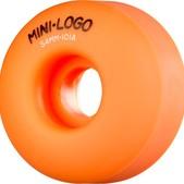 Mini Logo C-Cut Orange Skateboard Wheels - 54mm 101a (Set of 4)