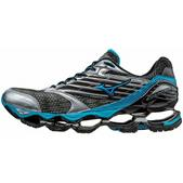 Mizuno Wave Prophecy 5 Road Running Shoe - Men's - D Width Size 11.5-D Color Gunmetal/AtomicBlue