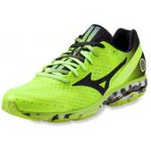 Mizuno Women's Wave Rider 17 Road-Running Shoes Lime Light/Black 7