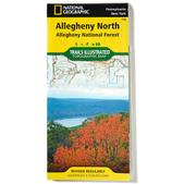 Nat Geo Alleghany National Forest Map, North