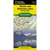 NAT GEO Glacier/Waterton Nat'l Park Map