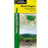 NAT GEO Mount Rogers National Recreation Area Trail Map