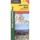 National Geographic Lake Tahoe Basin Map