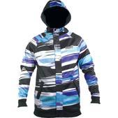 Neff Painted Stripe Shredder Hoodie Black/Blue