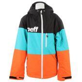 Neff Youth Trifecta Snowboard Jacket Black/Teal/Orange