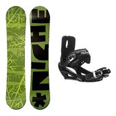 Niche Knew Stealth 3 Snowboard and Binding Package