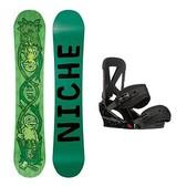 Niche Theme Custom Snowboard and Binding Package