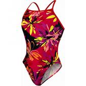 Nike Retro Floral Classic Lingerie Tank Swimsuit - Girl's Size 20 Color Red