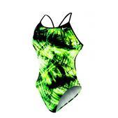 Nike Solar Canopy Modern Cut-Out Tank Swimsuit - Women's Size 36 Color CourtGreen